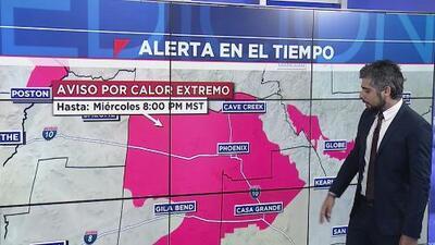 Activan avisos por calor extremo en Arizona