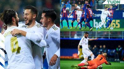 El Real Madrid golea y amenaza al Barcelona con quitarle el liderato