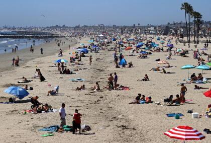 La primera ola de calor en la región trajo condiciones de verano, aunque solo el inicio de la primavera.
