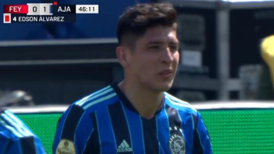 ¡Segunda expulsión! Edson ve la roja con Ajax ante Feyenoord