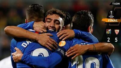 Sin Chicharito, Sevilla vapuleó al Dudelange en Europa League