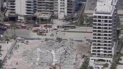 """""""Fue un estruendo muy grande, como un terremoto"""": testigo del colapso de un edificio en Miami Beach"""