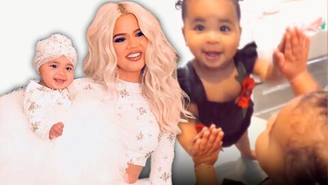 Khloé Kardashian le enseña a su hija True a amarse a sí misma a pocos días de su primer cumpleaños