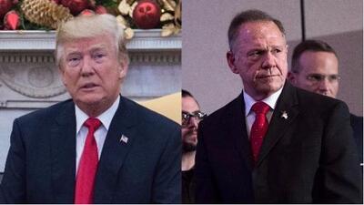 Trump pide votar por Roy Moore, señalado de comportamiento sexual inadecuado