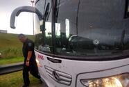 Balean autobús de aficionados de Unión Santa Fe