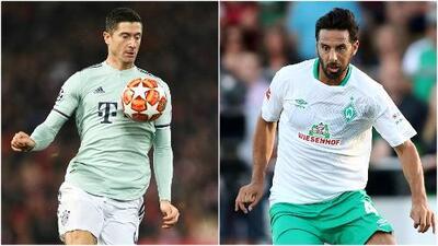 Lewandowski amenaza a Claudio Pizarro en la lucha de los extranjeros goleadores en la Bundesliga