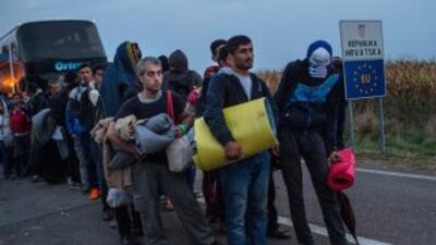 8,000 refugiados llegan a Croacia
