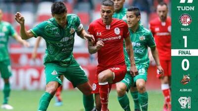 Un autogol le dio el triunfo al Toluca en su debut en Copa MX