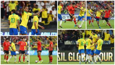Brasil golea a Corea