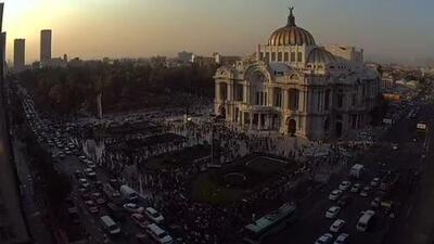 En video: Así se vio el sismo desde un webcam en el centro de la Ciudad de México