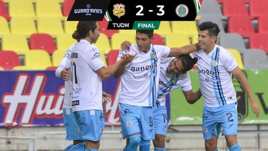 Resumen   En partidazo de 'toma y dame' Cancún FC venció 2-3 al Atlético Morelia