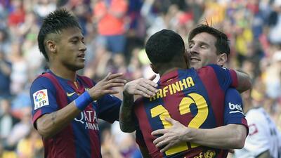 La baja de Rafinha deja sin recambios a la MSN del Barça hasta enero