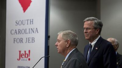 Jeb Bush y Lindsey Graham: ¿un frente anti-Trump?