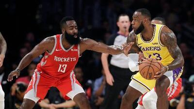 Los Rockets y Harden opacan el debut de LeBron en Los Ángeles