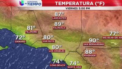Se espera una densa neblina en horas de la mañana y una tarde soleada este viernes en Los Ángeles