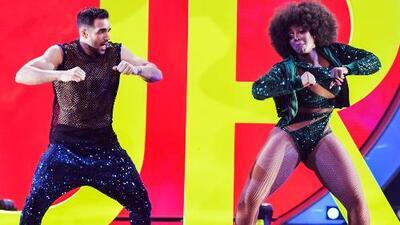 Amara 'La Negra' echó mano de la energía de Danell Leyva para bailar 'Dura' en Mira Quién Baila