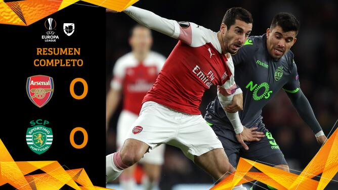 Arsenal 0-0 Sporting - RESUMEN - Grupo E - UEFA Europa League