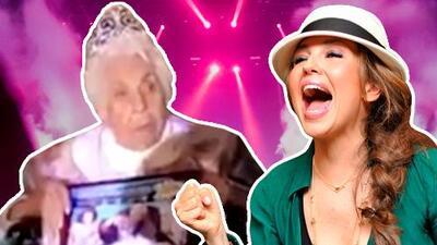 Este es el video que Laura Zapata grabó del homenaje que le hicieron a su abuela por sus 100 años