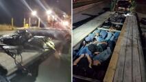 Hallan a 20 inmigrantes debajo de las tablas de madera de un remolque en Del Río