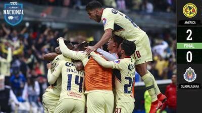 Mucho América para tan pocas Chivas: las Águilas eliminaron al Rebaño en la Copa MX