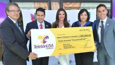 Se entregó el primer donativo del Teletón USA