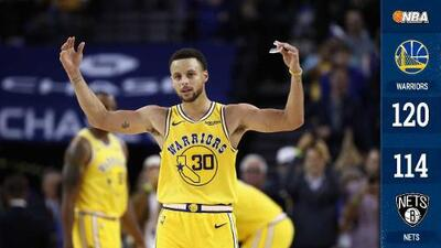 Curry establece otro récord de triples en victoria de Warriors