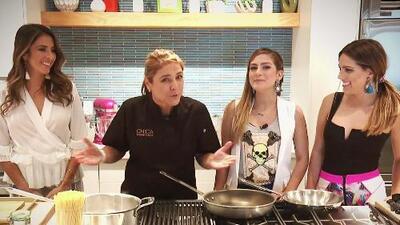 Cocina 101: Maity, Andrea y Jessi toman clases exprés con la chef Lorena García (y este fue el resultado)
