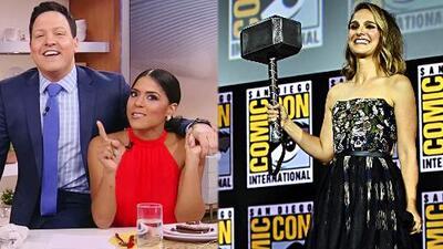 Francisca hizo gala de su inglés para anunciar que Natalie Portman será 'Thor' en mujer