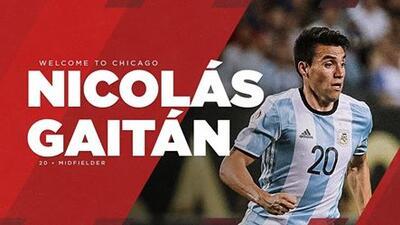 Oficial: Chicago Fire anuncia la contratación de Nicolás Gaitán