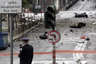 Explosión frente al Banco central de Grecia