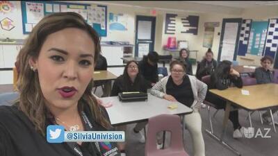 Univision Arizona visita escuela en Tucson
