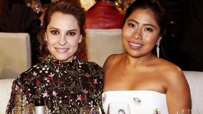 Así fue el paso de Yalitza Aparicio por el almuerzo de los nominados a los premios Oscar