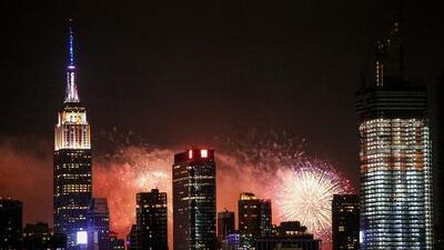Dónde podrás ver fuegos artificiales esta noche si estás en la ciudad de Nueva York