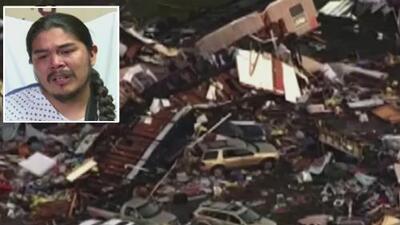 Un tornado se llevó su casa rodante, ahora este padre relata cómo ni las heridas le impidieron rescatar a su familia