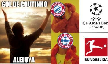 Memes del Barcelona contra Lyon y del duelo de Bayern y Liverpool en Champions