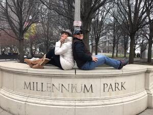 Renzo y Maria Esther visitaron la ciudad y suburbios de Chicago
