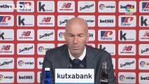 Zidane negó haber dicho a sus jugadores que se va del Real Madrid