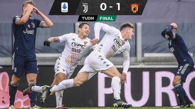 Juventus cae ante el Benevento y se aleja más del Scudetto