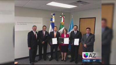 Consulados de El Salvador, Guatemala y México firman convenio a favor de connacionales