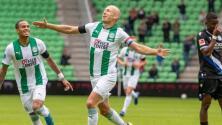 Arjen Robben anotó su primer gol con el Groningen