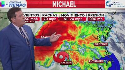 Michael, degradado a tormenta tropical, deja lluvias torrenciales en Carolina del Norte y Virginia