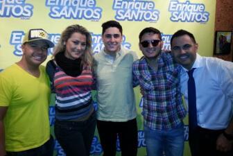 Grupo Treo en el show de Enrique Santos