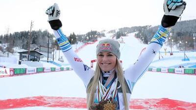¡Legendaria! Lindsey Vonn se retira con bronce en Mundial de Esqui Alpino