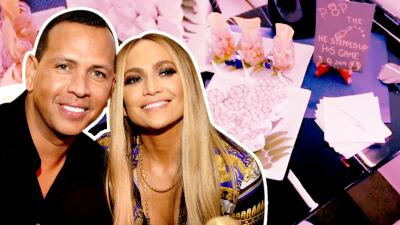 Jennifer López y A-Rod pusieron fin a sus románticas vacaciones con champán y... ¿mini donas?