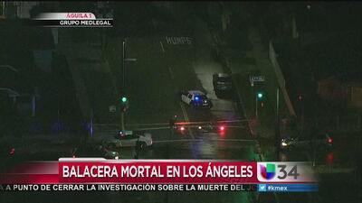 Balacera mortal en el sur de Los Angeles