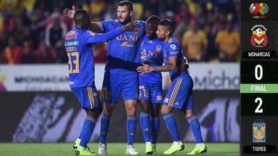 Tigres venció a Monarcas en el Morelos y se acerca peligrosamente a la liguilla