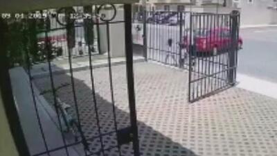 Una niña y su padre son atropellados por una chofer que conducía en reversa