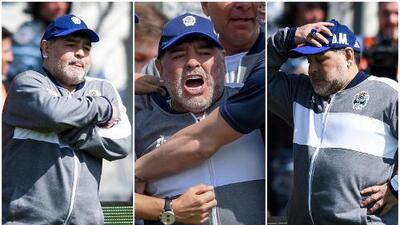 El 'amargo' debut de Maradona con Gimnasia