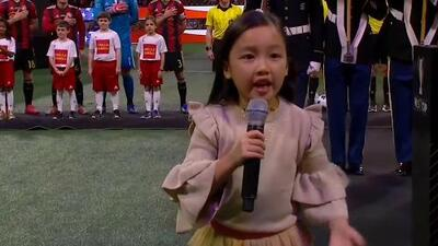 ¡Otra vez la niña! El emotivo himno de Estados Unidos en MLS Cup