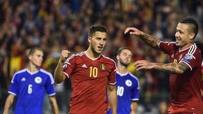 Bélgica 3-1 Bosnia-Herzegovina:  Los 'Diablos' Rojos ganan hacia la Euro con remontada
